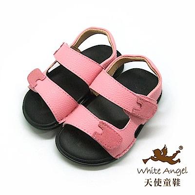 天使童鞋 簡約休閒中性涼鞋(小童)F521A-粉