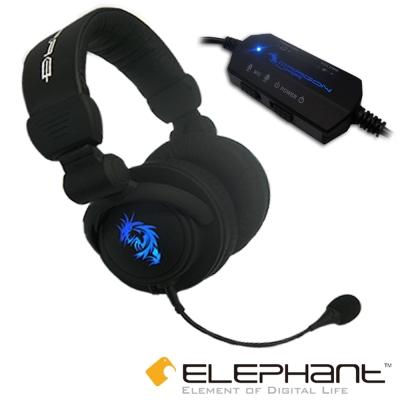 ELEPHANT龍戰系列-野獸 專業電競全罩震動式耳麥(GHS-002)