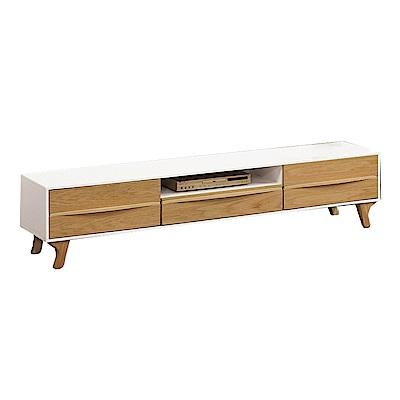 品家居 朵希6.5尺雙色三抽長櫃 電視櫃~195.5x40x45cm免組