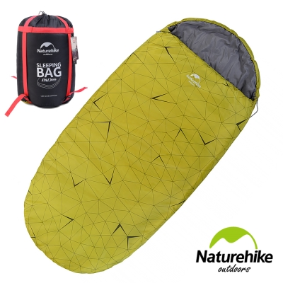 Naturehike 抗寒保暖 加大加厚亮彩圓餅單人睡袋 果綠色-急