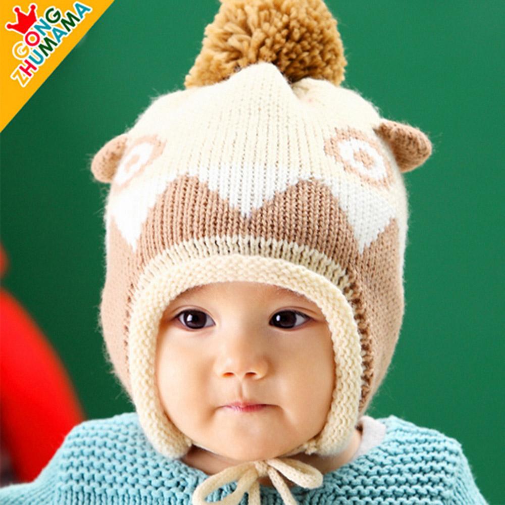 韓版-可愛恐龍兒童護耳毛帽