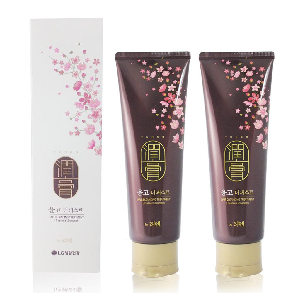 韓國LG ReEn 頂級潤膏 經典雙效護髮洗髮乳(白色) 250ml (2入)