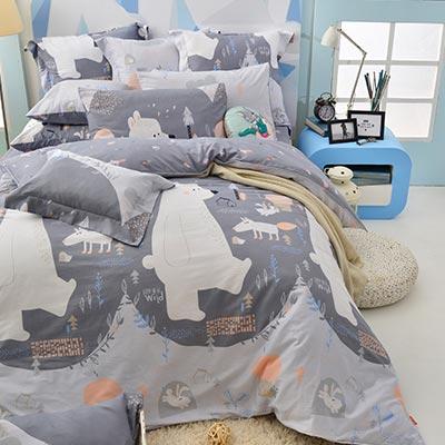 義大利Fancy Belle 加大純棉防蹣抗菌吸濕排汗兩用被床包組-格林童話