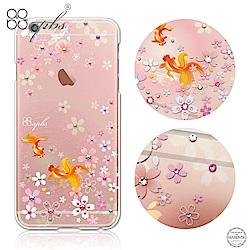 apbs iPhone6s/6 Plus 5.5吋 施華洛世奇彩鑽手機殼-湖櫻夢