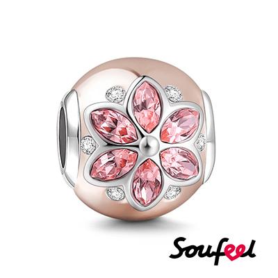 SOUFEEL索菲爾 925純銀珠飾 金枝玉葉 串珠(玫瑰金)
