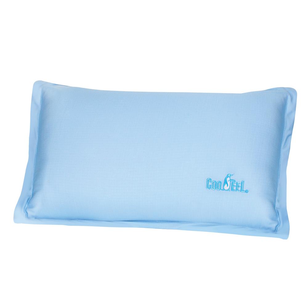 CooFeel 台灣製造高級酷涼紗經典歐式滾邊枕頭套2入