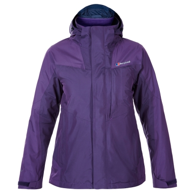 【Berghaus 貝豪斯】女款兩件式高科技棉防水外套H22FR8紫
