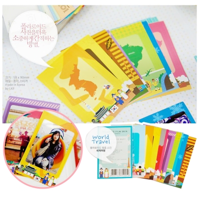 kiret韓國DIY相框拍立得相片邊框貼紙20入-World-世界旅行
