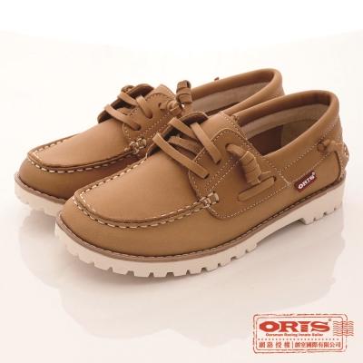 ORIS女款 真皮 超柔軟 休閒懶人鞋(棕SA17686N05