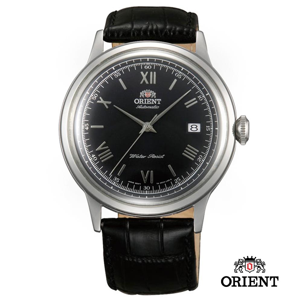 ORIENT 東方錶 DATE系列 羅馬競技場機械錶-黑色/40.5mm