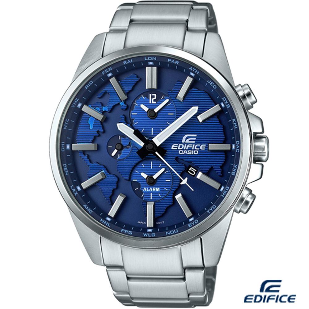 EDIFICE 多功能鬧鈴腕錶(ETD-300D-2A)-藍/46.3mm