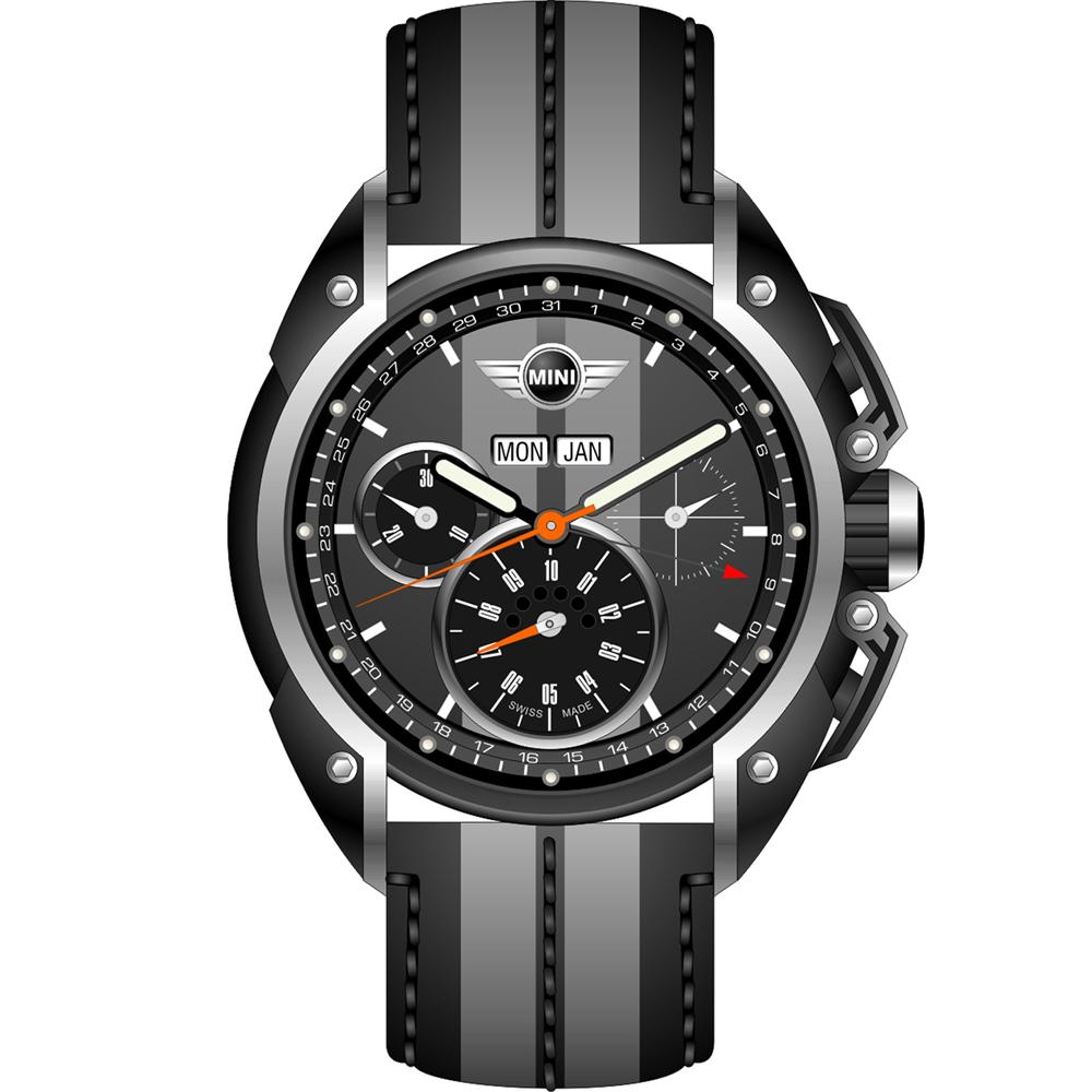 MINI Swiss Watches  極速運動計時腕錶-灰色/45mm