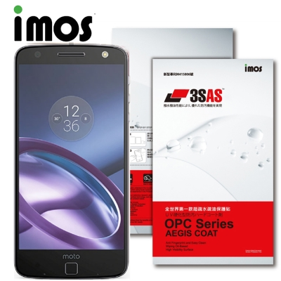 iMOS 摩托羅拉MOTO Moto Z 3SAS 防潑水 防指紋 疏油疏水 螢幕保護貼