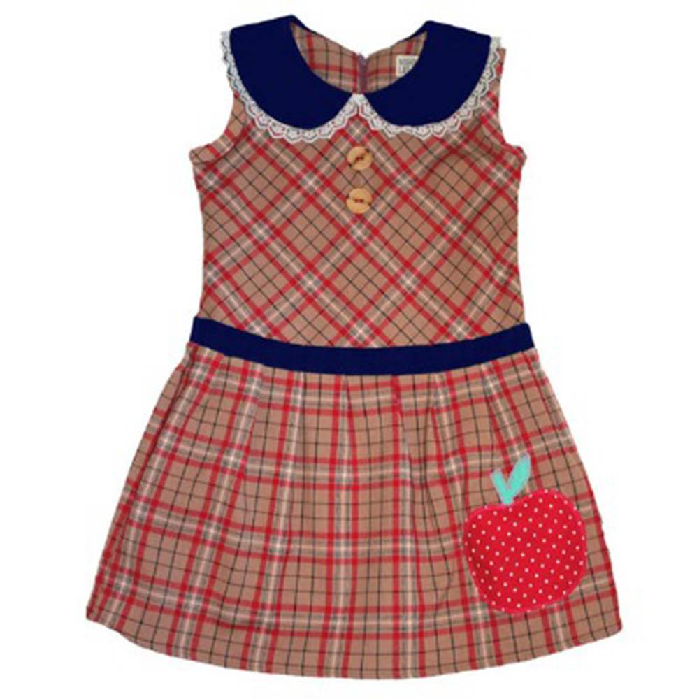 【Misha Lulu 】好學生格紋蘋果洋裝(12m-6y)