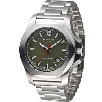 Victorinox 維氏 INOX 軍事標準專業腕錶-綠/43mm