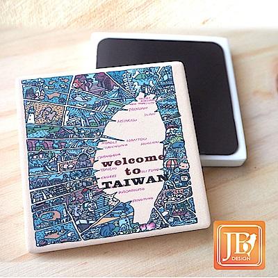 JB Design_就是愛台灣杯墊方磁鐵-521_漫畫台灣