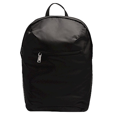 PRADA 經典TESSUTO系列橡膠品牌字母徽標尼龍袋手提/後背包(黑)