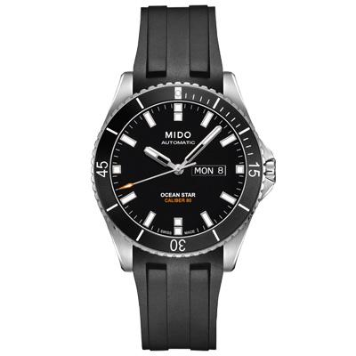 MIDO 美度 Ocean Star 海洋之星潛水腕錶-沉穩黑42mm