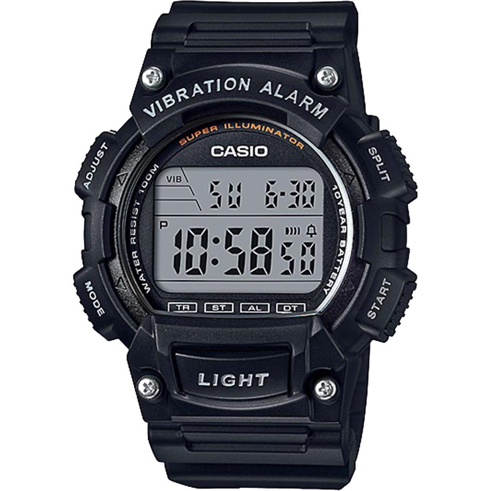 CASIO卡西歐 十年電力運動腕錶-黑/45mm