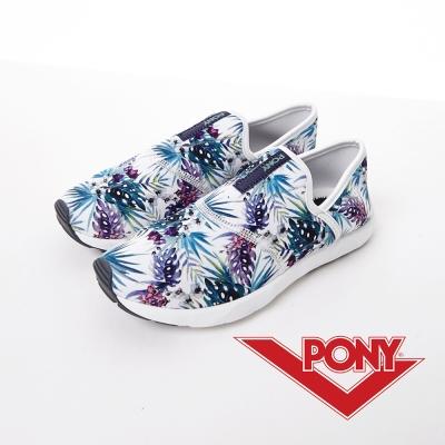 【PONY】HIGH LINE系列-輕便舒適懶人鞋-女性-夏日印花