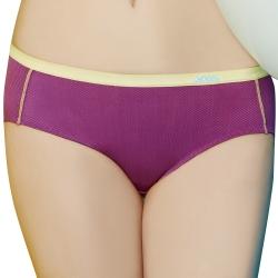 思薇爾 K.K Fit系列M-XXL中低腰素面三角 內褲(亮桃紫)