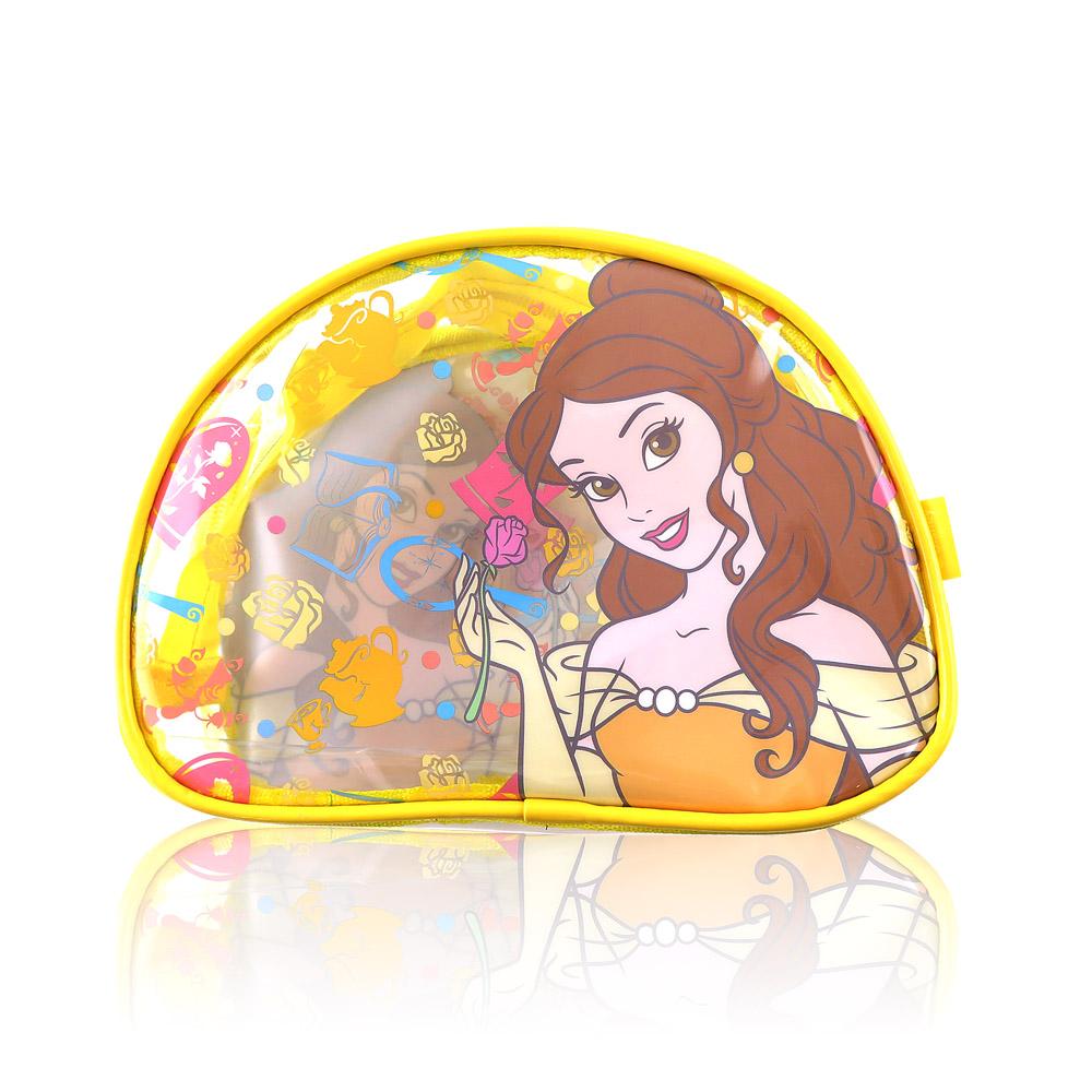 Disney迪士尼經典防水透明貝兒化妝包 萬用包