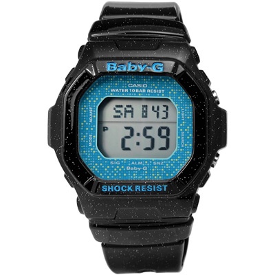 BABY-G 活潑俏皮閃亮時尚魅力電子手錶(BG- 5600 GL- 1 )-光澤黑/ 39 mm