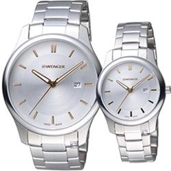 瑞士 WENGER City 城市經典時尚對錶(011441105+011421105)