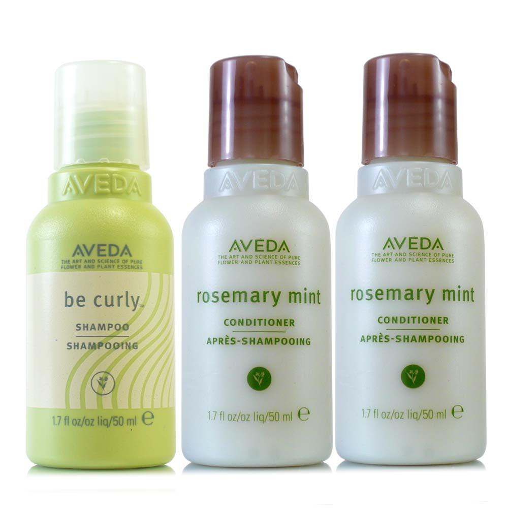AVEDA 卷髮洗髮精50ml+迷迭薄荷日用潤髮乳50ml*2