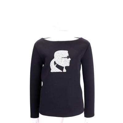 Karl Lagerfeld SPARKLE 老佛爺鑽飾圖騰挺版長袖上衣