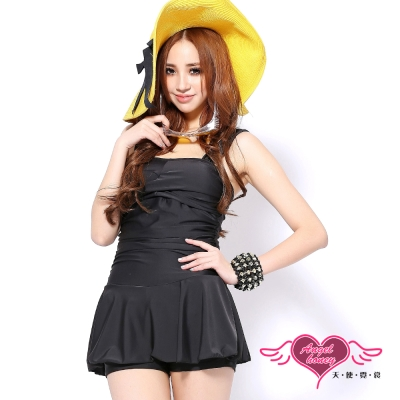 天使霓裳 沁甜水漾 一件式大尺碼泳衣(黑2L~4L)