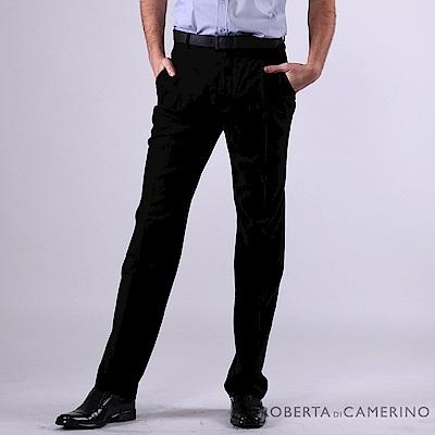 ROBERTA諾貝達 台灣製 商務紳士 純羊毛打摺西裝褲 黑色