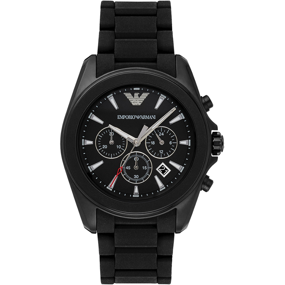 Emporio Armani Sport 探險家運動計時腕錶-黑/44mm