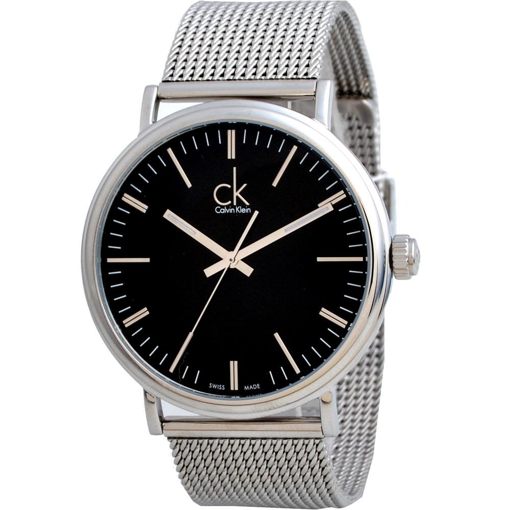 Calvin Klein ck SURROUND大型米蘭腕錶-黑/43mm