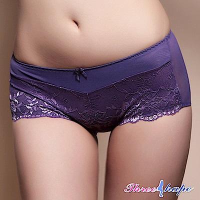 平口內褲 時尚和風平口褲 (蔓越紫) ThreeShape