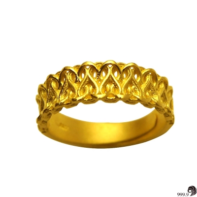 歷代風華-幸福纏綿黃金男戒(約 1 . 46 錢)