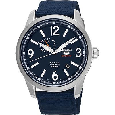 SEIKO 精工5號盾牌24石紳士風機械腕錶(SSA301J1)-藍/42mm