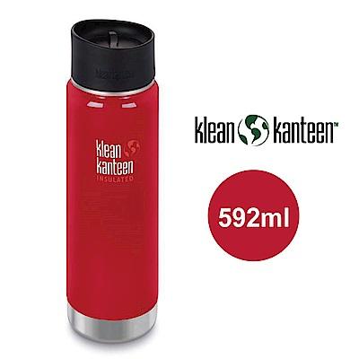 【美國Klean Kanteen】寬口不鏽鋼保溫瓶-592ml-寶石紅