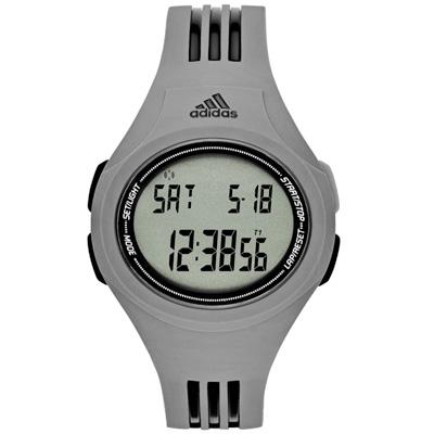 adidas 潮流曲線數位電子腕錶-灰42mm