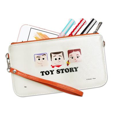 迪士尼授權正版 皮克斯方塊系列 皮革紋手拿包 萬用手機袋(玩具主角)