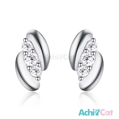 AchiCat 925純銀耳環 扭轉幸福