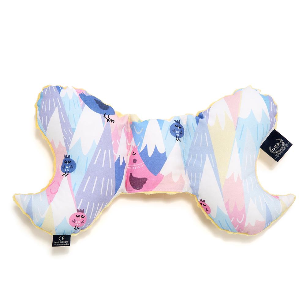 La Millou 天使枕護頭型嬰兒枕-莓果咕咕雞(清恬芒果黃)