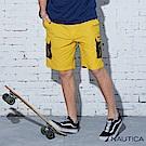 Nautica 街頭嘻哈Lil Yachty設計款短褲-黃