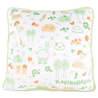 kapibarasan水豚君北歐系列絨毛抱枕綠色