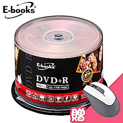 E-books 國際版 16X DVD+R 100片桶 (加贈M31光學滑鼠)