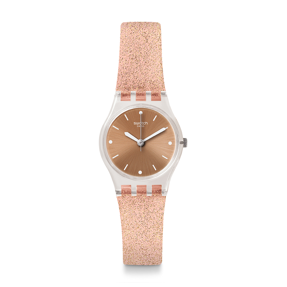 Swatch 就是SWATCH PINKINDESCENT TOO 粉色星沙手錶