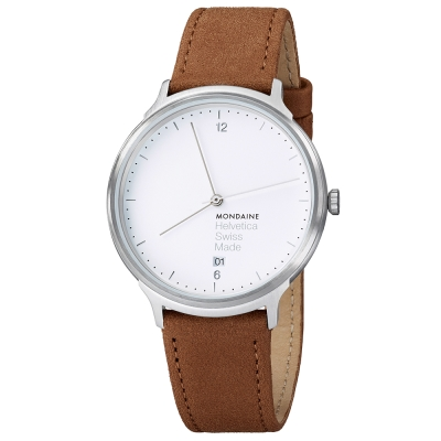MONDAINE 瑞士國鐵設計系列腕錶 - 白/38mm