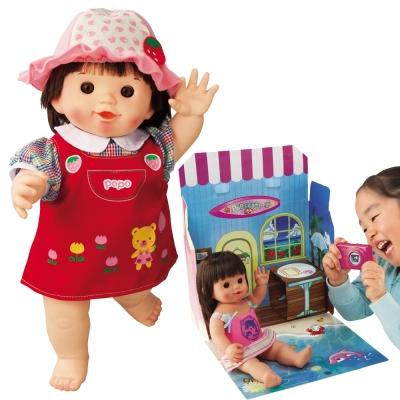 POPO-CHAN娃娃+配件-草莓吊帶裙+海灘旅行箱(限量商品)