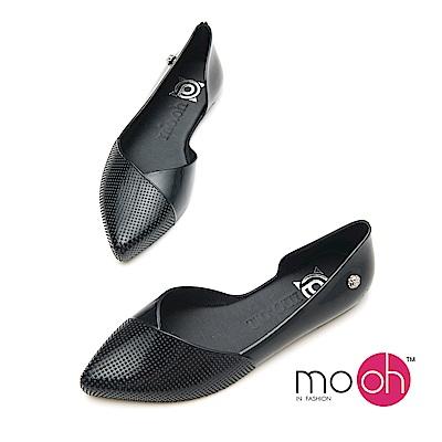 mo.oh-尖頭防水平底香水娃娃鞋-黑色