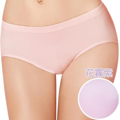 【思薇爾】I LOVE U冰咖啡紗系列M-XL素面低腰三角內褲(花霧紫)